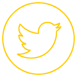 twitter logo Yellow & transparent